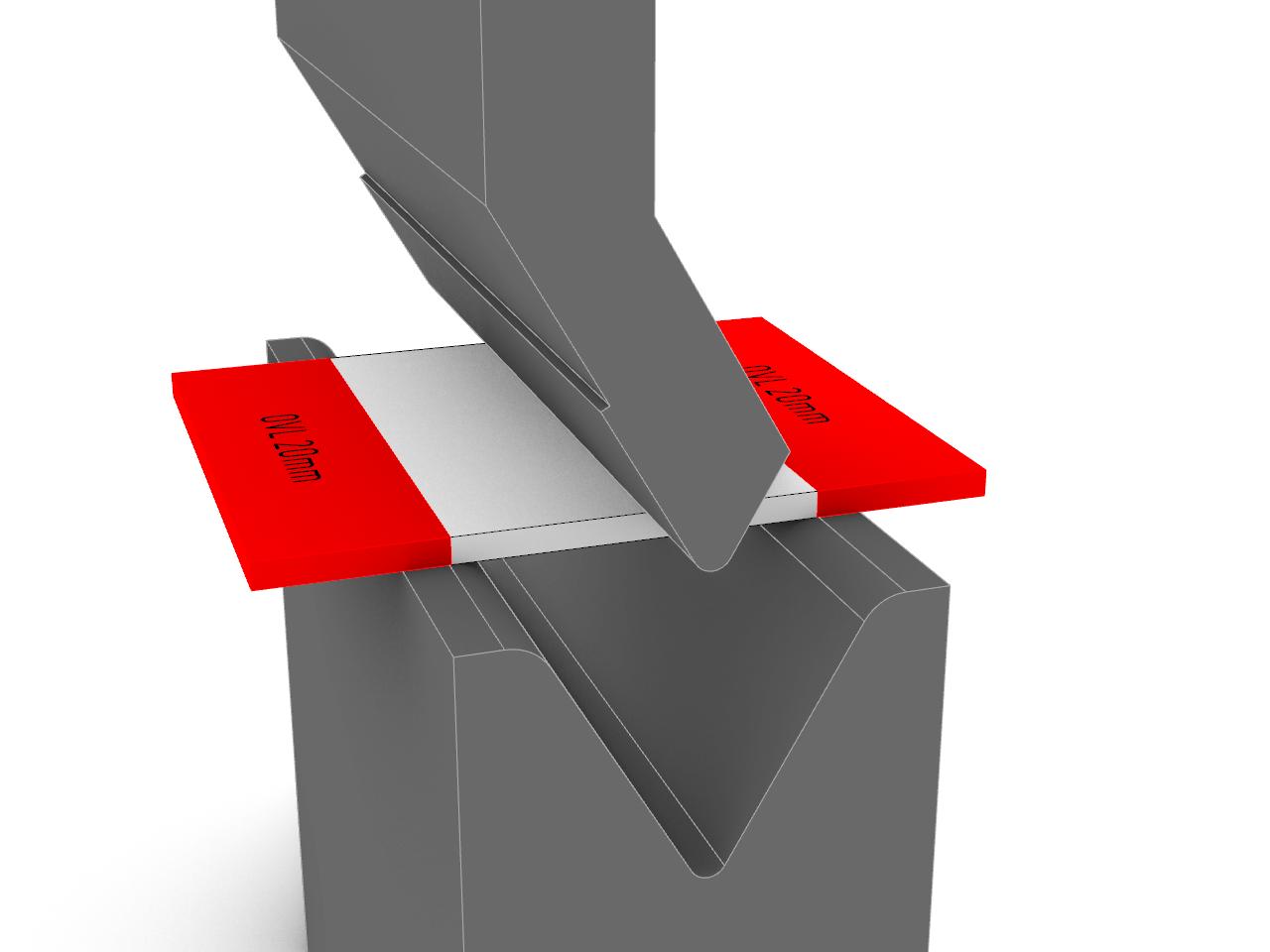 brake press, formed aluminium steel part, sheet bending