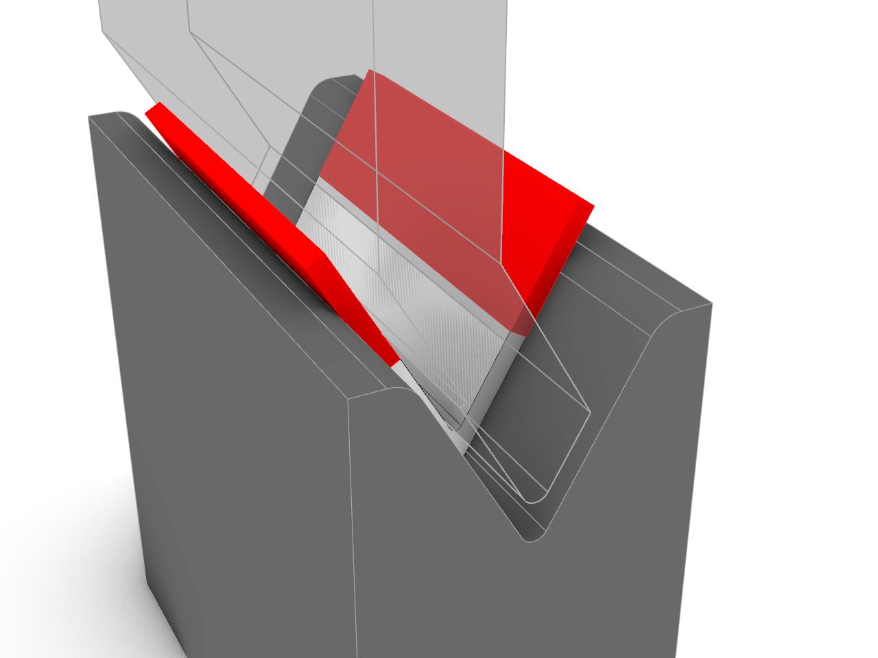 brake press, formed aluminium steel part, sheet bendingg