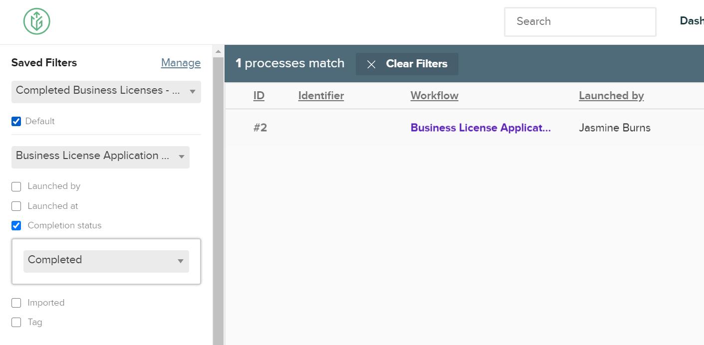 Citygrows default saved filter on user dashboard