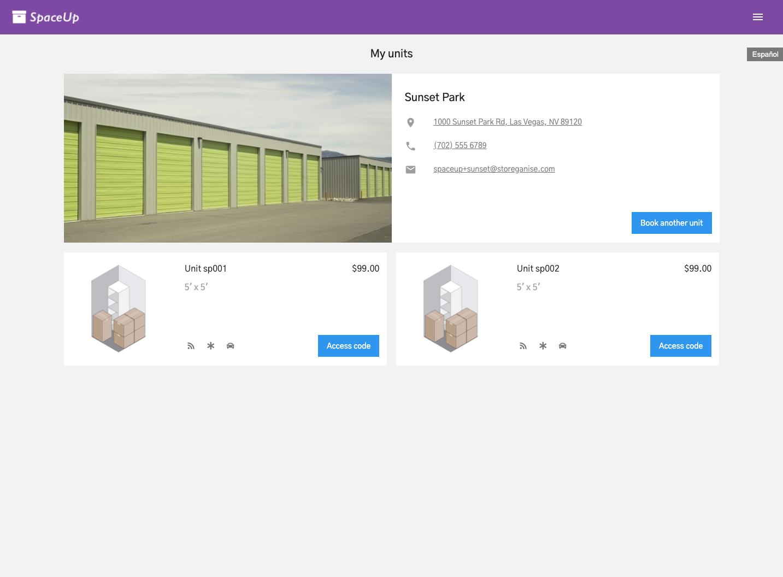 Units Customer App: My units