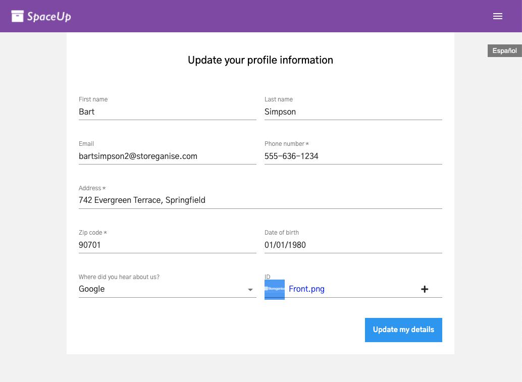 Units Customer App: Profile