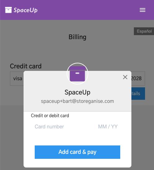 Units Customer App: Billing