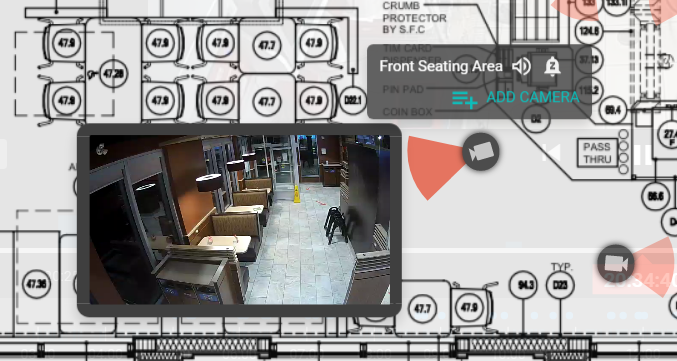 Multi-view cameras from floor plan