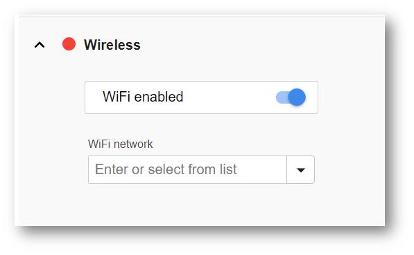 Edge IO Wireless Network Connection