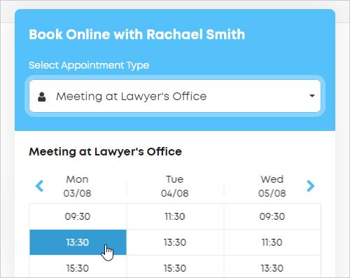 LawTap booking widget