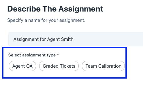 describe the assignment