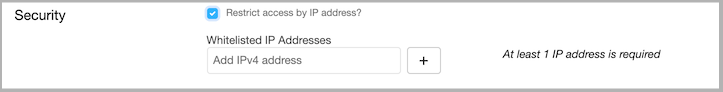 Dentally Practice Settings - Security - restrict by IP address