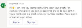 Sign into Microsoft teams using your PageProof account