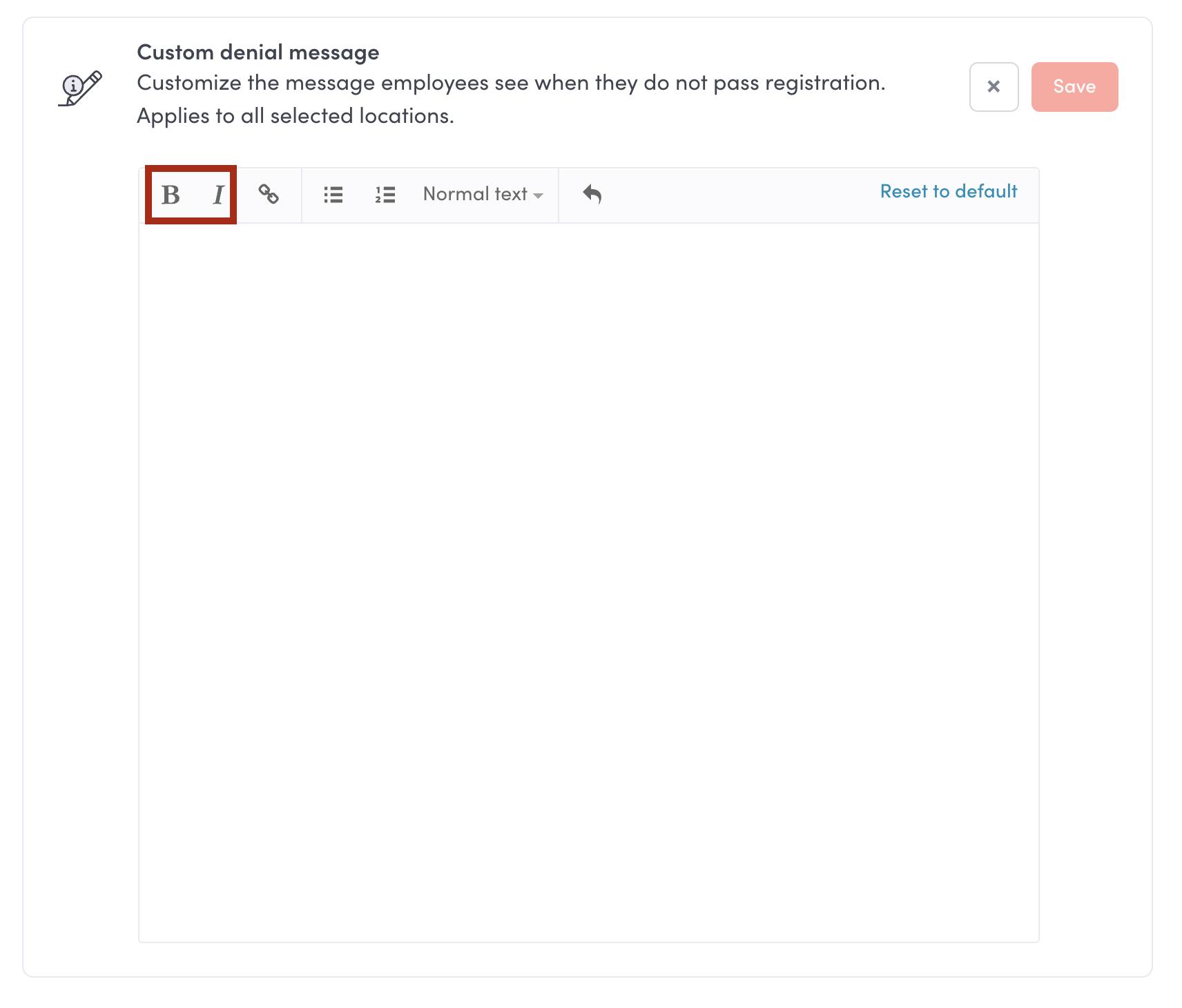 custom denial message formatting envoy