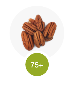 Pecan nuts - an example of a 75+ scoring fat.