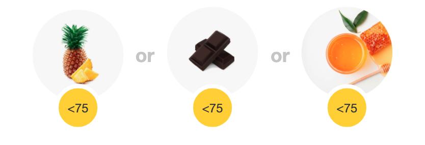 Pineapple, dark chocolate or honey - example flavor boosters.