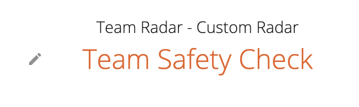 a picture of a team safety check custom title