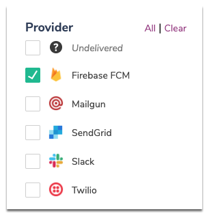 Filtering Past Messages by Provider
