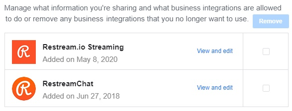 Manage what information you're sharing