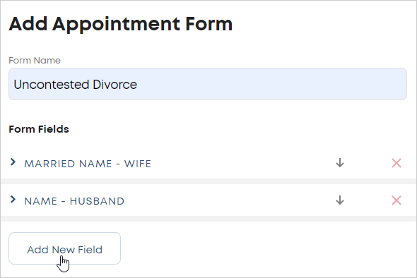 LawTap Add Appointment Form area