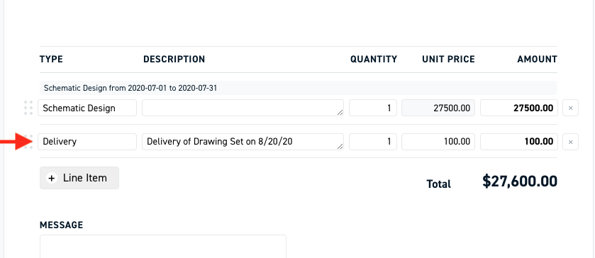 Monograph - adding a one time charge to invoice