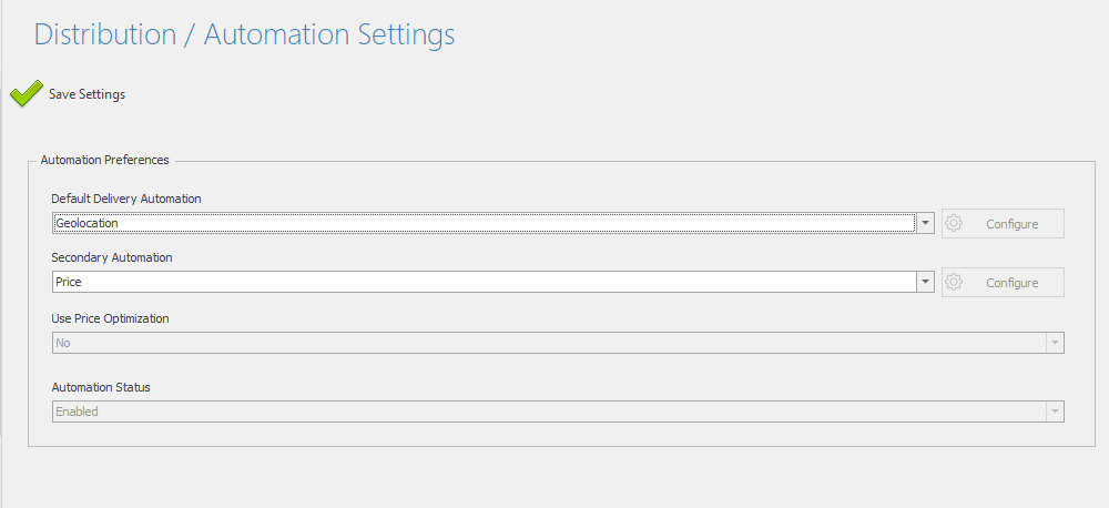 Setting delivery automation to geolocation