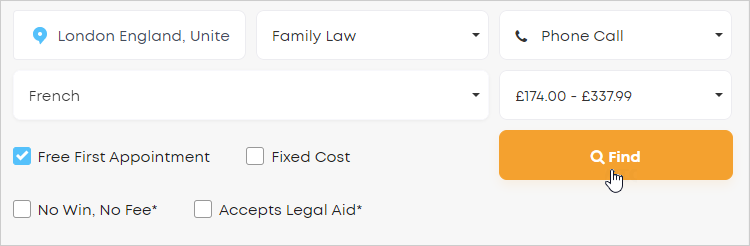 LawTap advanced search options