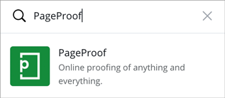 Search for the PageProof app in Canva