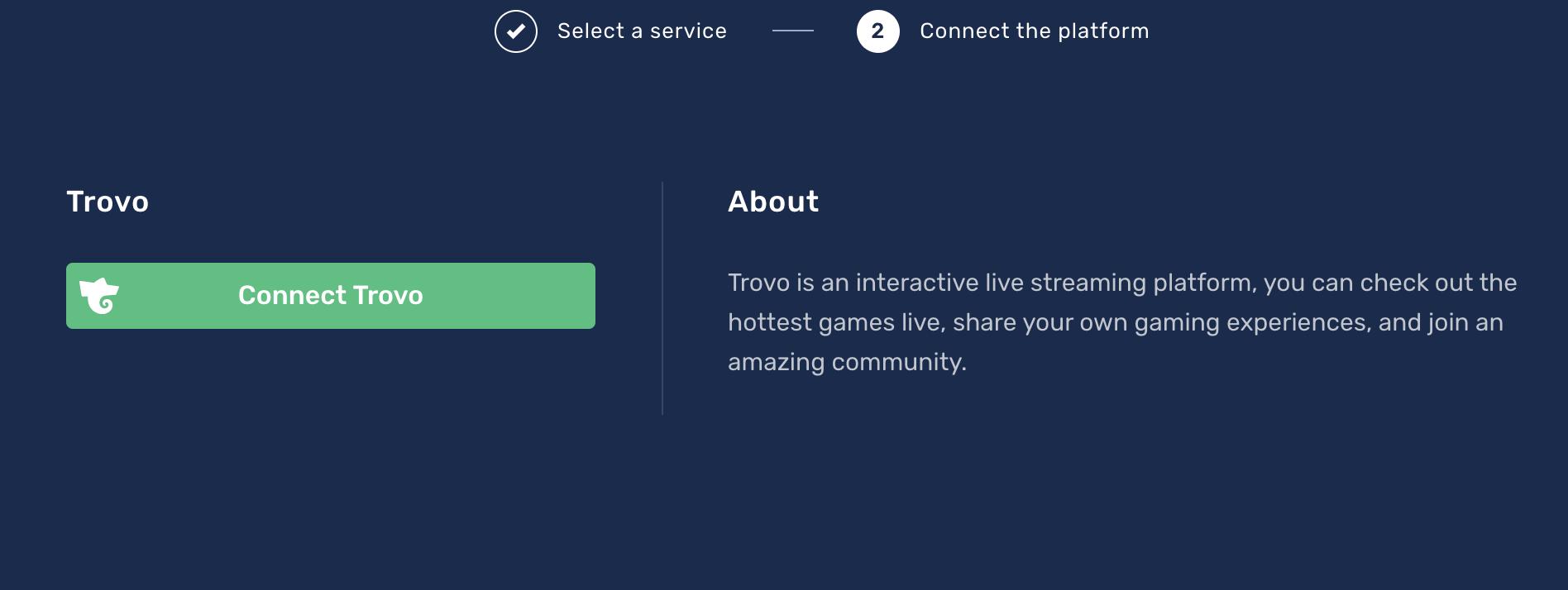 Connect Trovo