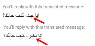 replying with a translator in inbox napoleoncat