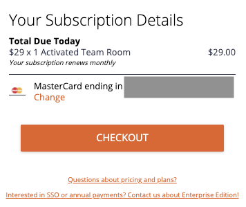 confirm your subscription and billing details before payment