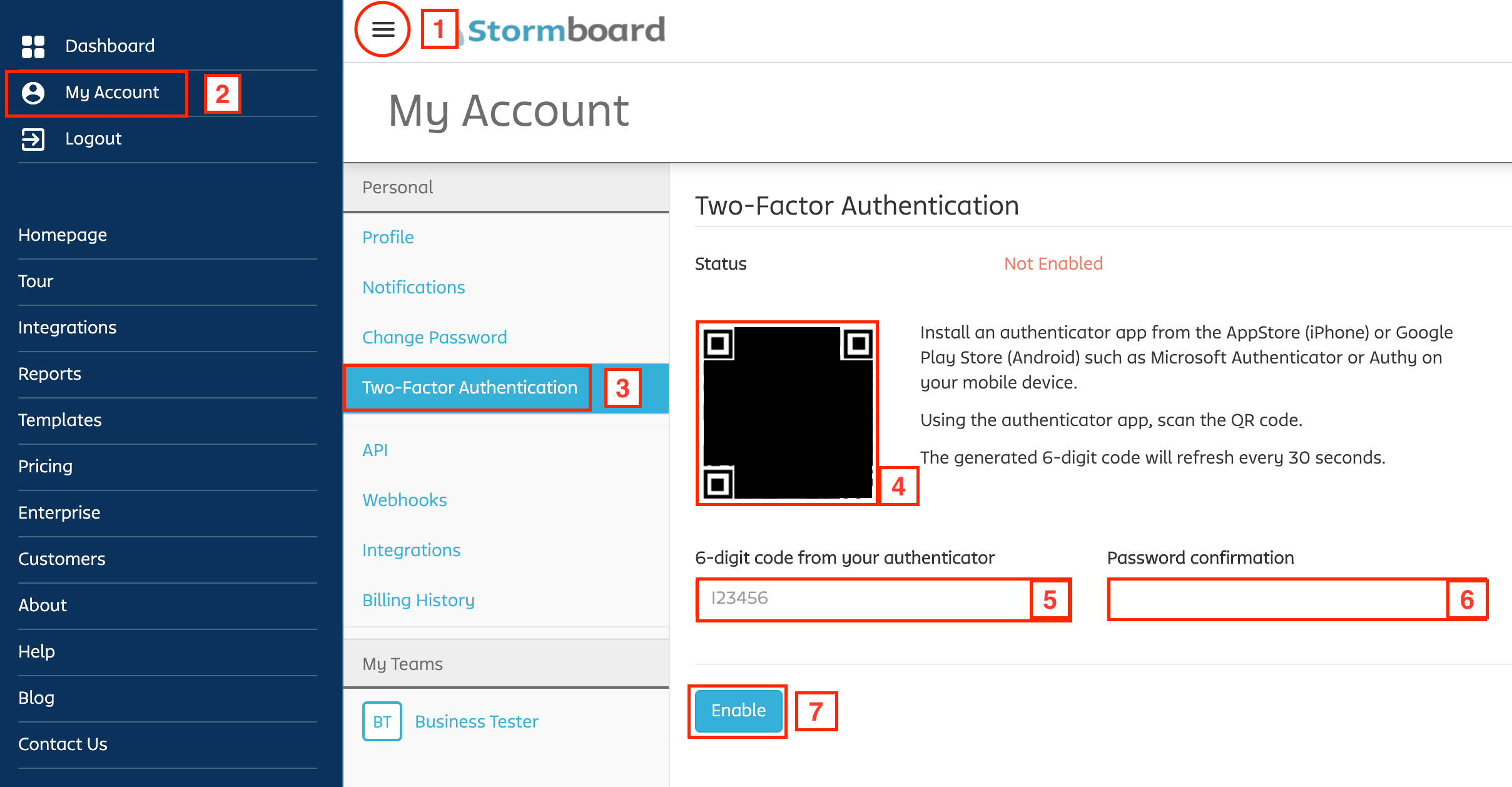 Stormboard Two Factor Authentication Guide Part 1
