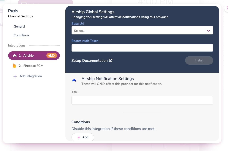 Adding Details for a New Provider Integration