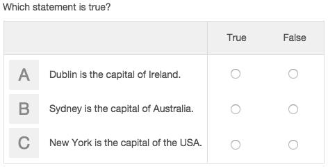 Choice matrix question example.