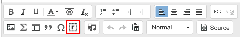 Response button in the Rich Text Editor
