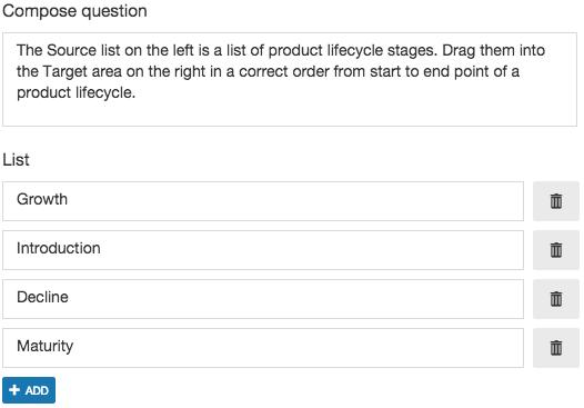 Sort List question basic parameters.