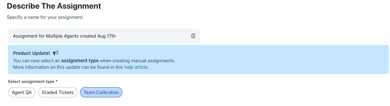 describe the assignment calibration