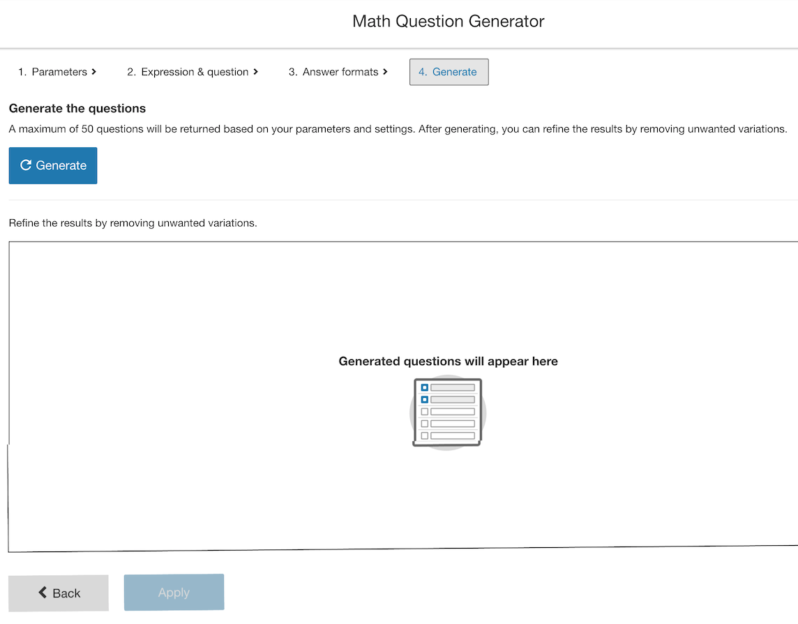 Generating your questions.
