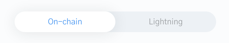 Image of On-chain toggle selected on the bitcoin checkout