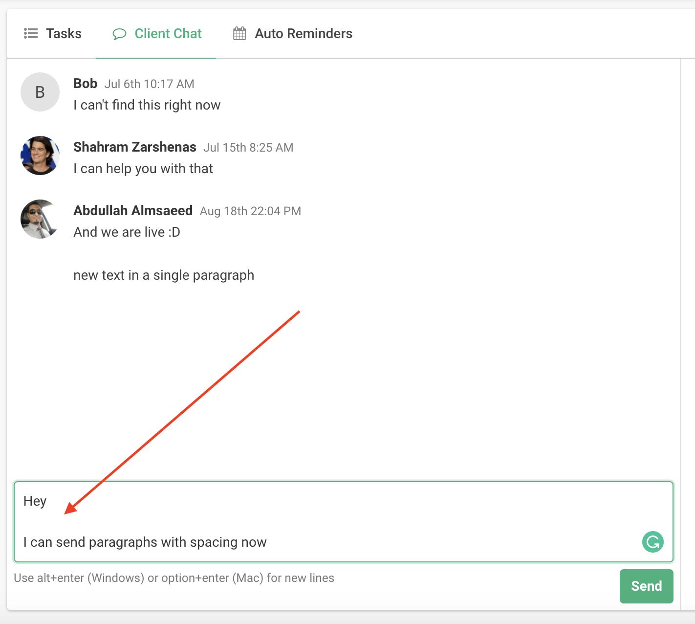 Client Task Updates 3