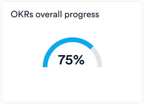 OKRs overall progress meter in Perdoo
