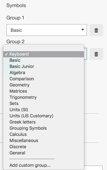 Adding a symbol group