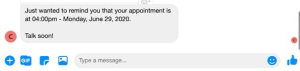 chatbot booking
