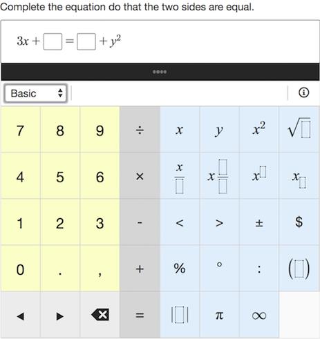 Math formula question example.