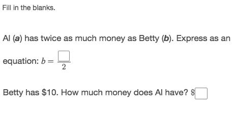 Cloze math example.