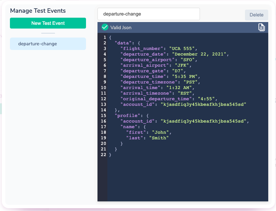 Managing Test Events in Courier