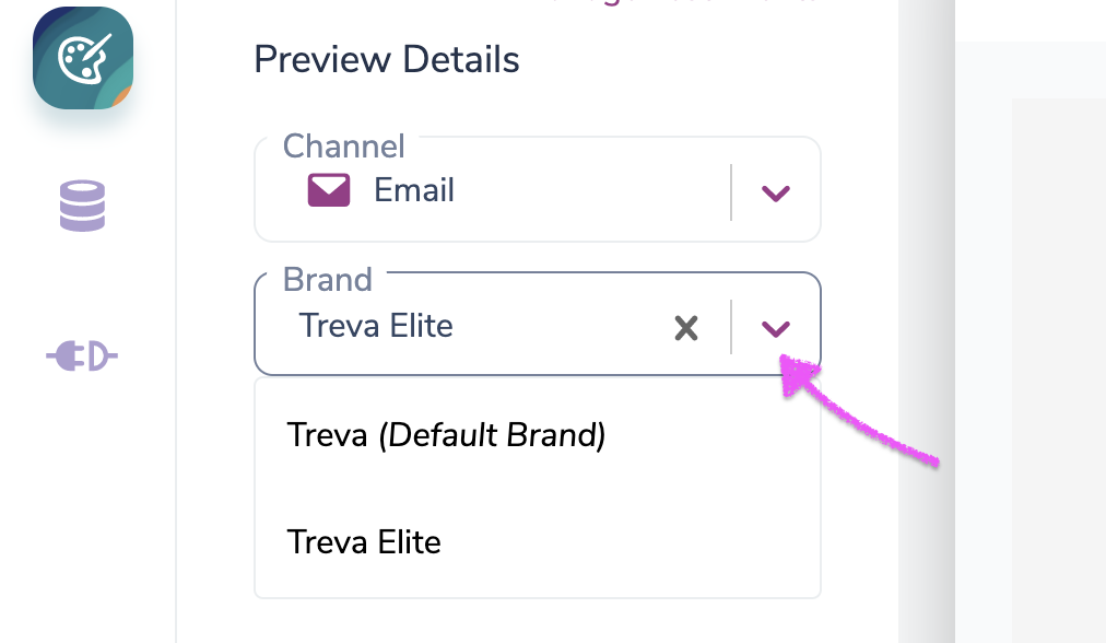Previewing Multiple Brands for an Email Notification in Courier