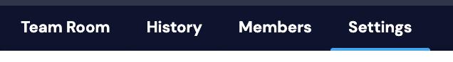 team room settings tab