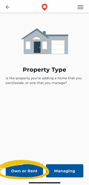 Add a Property You Own or Rent