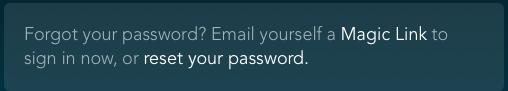 magic link password reset