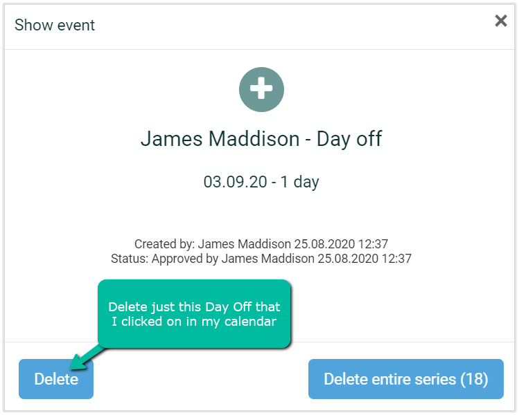 day off registrations