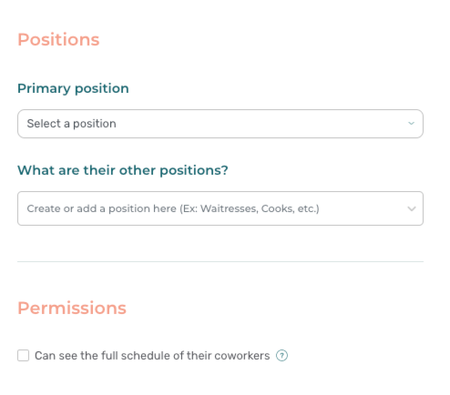 Assigning positions - Agendrix