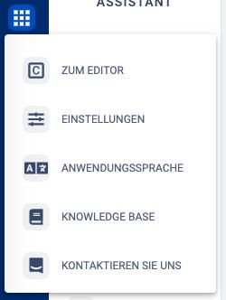 Zugang zum In-App Servier sowie der Knowledge Base