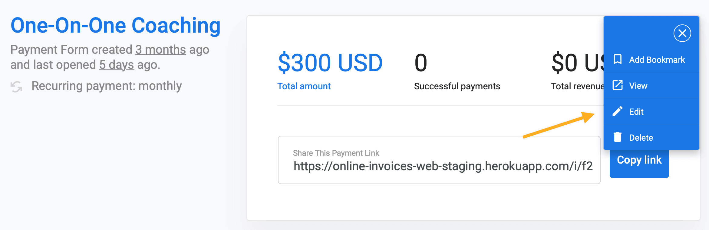 Create a Stripe payment form