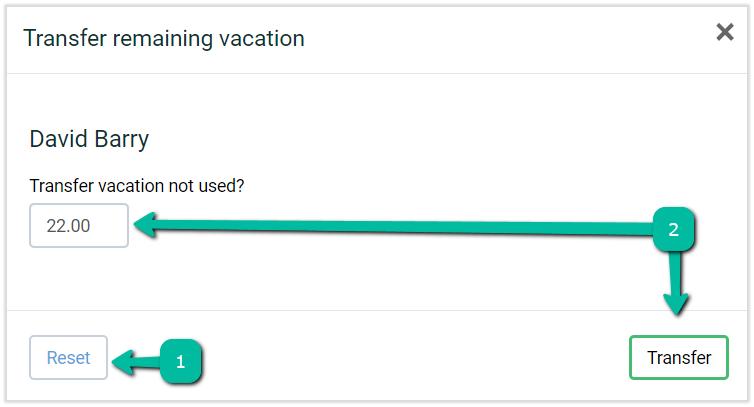 adjust remaining vacation